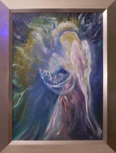 Az angyal kötényében című Havasi Ica festmény