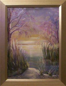Napsütések bársonyos emléke című kiállításon bemutatott festmény