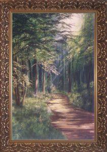Kiállításon szerepelt A sugár fényes árnyai című festmény