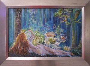 Tündéri varázs című Havasi Ica festmény