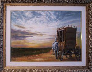 A festmény címe: Túl a felhőkön, szivárvány felett