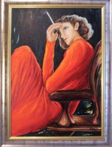 Festmény: Csendes érintés