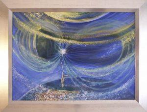 Éteri fény útján című Havasi Ica festmény