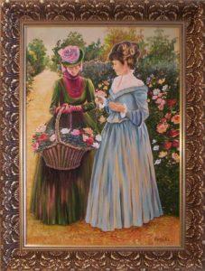 Szirmok és színek bársonya simogat című kiállításon bemutatott festmény