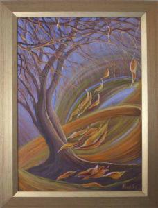 Fény teli fellegekben úszik tova a tavasz című természet szeretét ábrázoló festmény