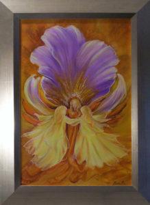 Aranyfényében táncol a nyári visszhang című Havasi Ica festmény