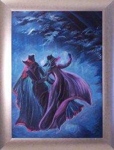 Féktelen tánc,holdfényes fuvallat című Havasi Ica festmény