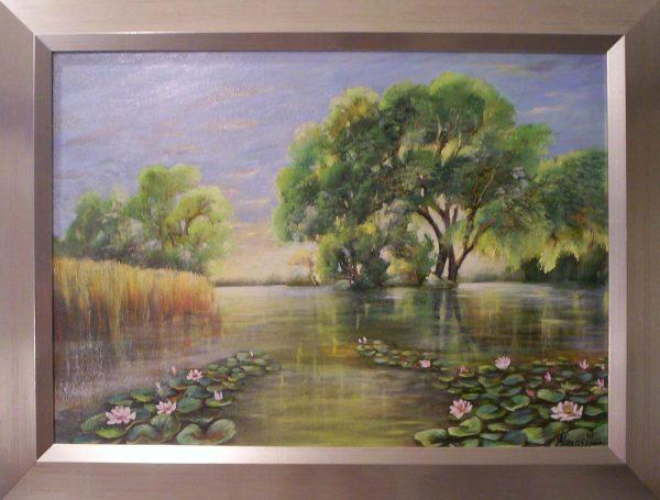 A festmény címe: Szépet találni a sodródó világban
