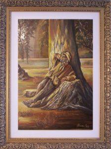 A napfény csókja című Havasi Ica született Markó Ilona festmény