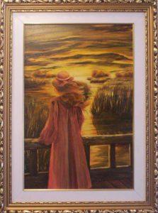 Őrzi a nád az alkonyatot című Havasi Ica született Markó Ilona festmény