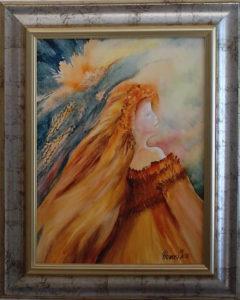 Suhanó idő, sárga lobogás című Havasi Ica született Markó Ilona festmény