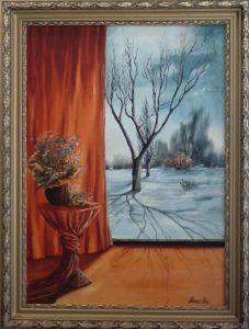 Meleg otthon, hűvös árnyék című Havasi Ica született Markó Ilona festmény