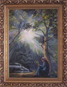 Égig érő fényében, játszik a képzelet című Havasi Ica festmény