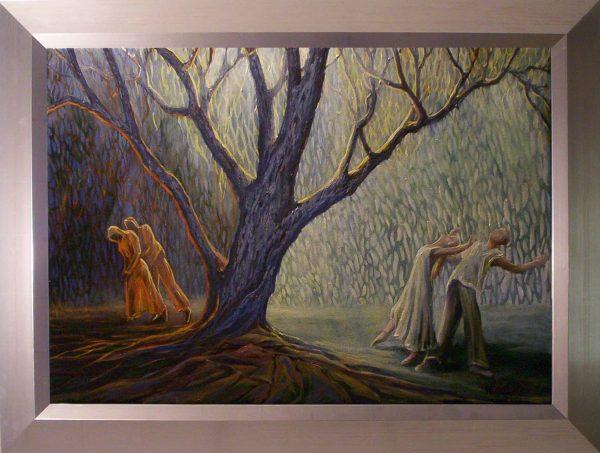 A fény üzenete című Havasi Ica született Markó Ilona festmény