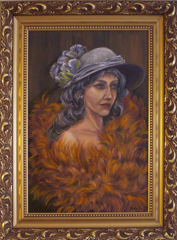 A békét magadban keresd=szépség című Havasi Ica festmény