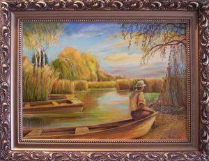 Semmi sem szól,csak a Duna habja…című Havasi Ica festmény