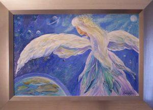 """Festmény """"Önmagunk megismerése,váratlan messzeségekbe és mélységekbe vezet"""" Jung"""
