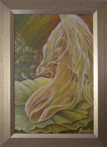Festmény Havasi Ica Illatfátylat bont szirmaira aranyfénye