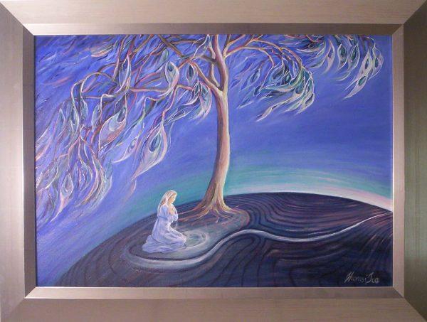 A szív csendjét hallgatva rátalálsz című Havasi Ica született Markó Ilona festmény