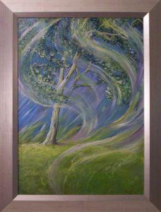 Szél susog fel néha arany zöldje felett című Havasi Ica született Markó Ilona festmény