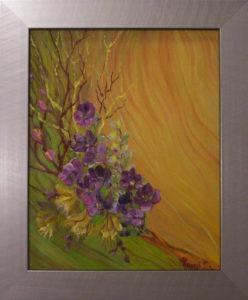 Napsütések emléke a virágok Havasi Ica festmény