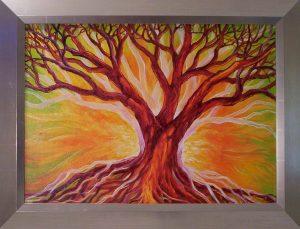 Festmény csodálatos fákról