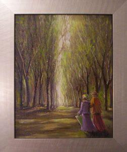 Régi emlékek nyomában című festmény