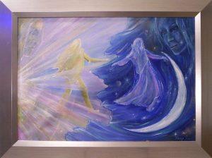 Nergal és Killa című Havasi Ica festmény
