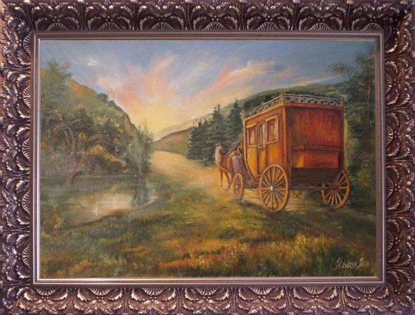 Átöltözött a felhő című Havasi Ica született Markó Ilona festmény