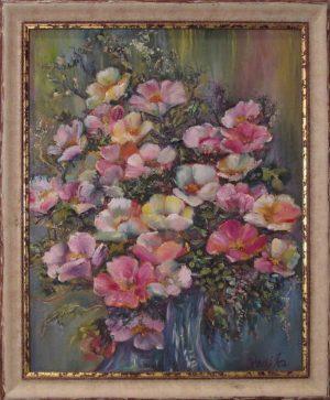 Havasi Ica festmény Francia rózsák ölelése