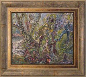 Földre pottyant csillagok című Havasi Ica született Markó Ilona festmény