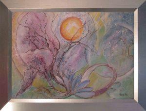 Kalandozás a létben című Havasi Ica született Markó Ilona festmény