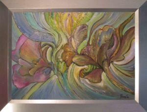 Havasi Ica festmény Lendületben