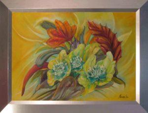 Élvezz minden pillanatot és csodák történnek című Havasi Ica született Markó Ilona festmény