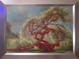 Boldogságban örvénylő című Havasi Ica született Markó Ilona festmény