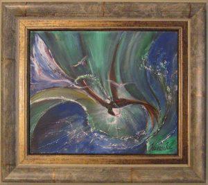 Áramlatban maradni című Havasi Ica született Markó Ilona festmény