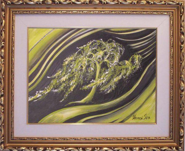 Gyengéden hajlong,de hatalmas erővel bír című Havasi Ica festmény